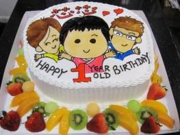 K-103 小孩1歲生日蛋糕